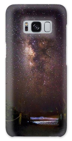 Milky Way Over Beach Access Galaxy Case