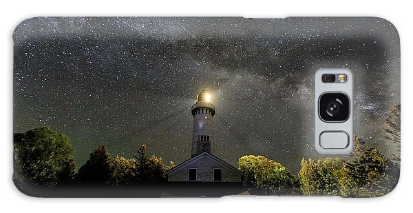 Milky Way Over Cana Island Lighthouse Galaxy Case