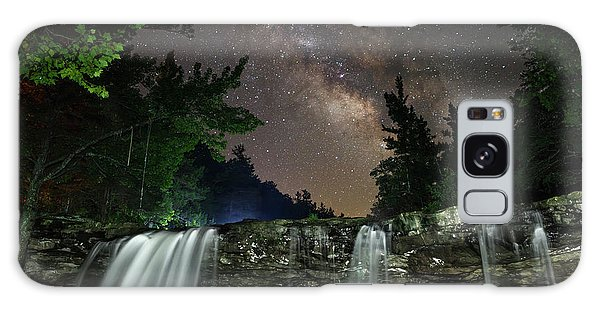 Milky Way Over Falling Waters Galaxy Case