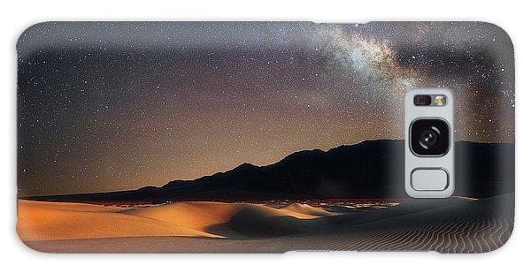 Galaxy Case featuring the photograph Milky Way Over Mesquite Dunes by Darren White