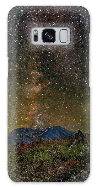 Milky Way Over Mount St Helens Galaxy Case