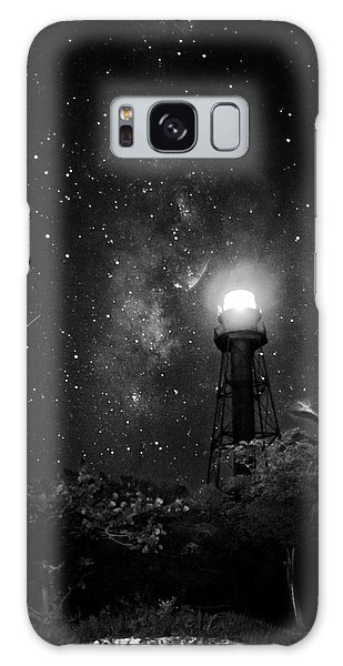 Milky Way Over The Sanibel Lighthouse In Black And White Galaxy Case