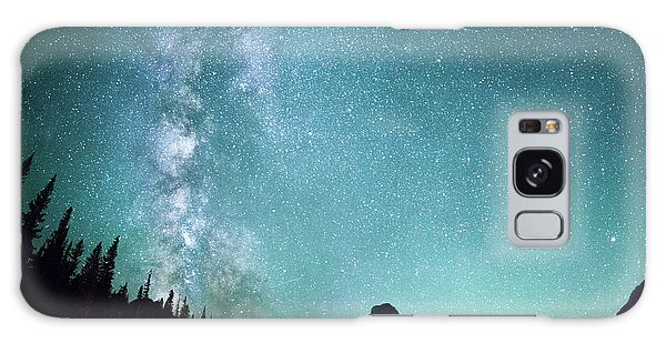 The Sky Galaxy Case - Milky Way // Two Medicine Lake, Glacier National Park by Nicholas Parker