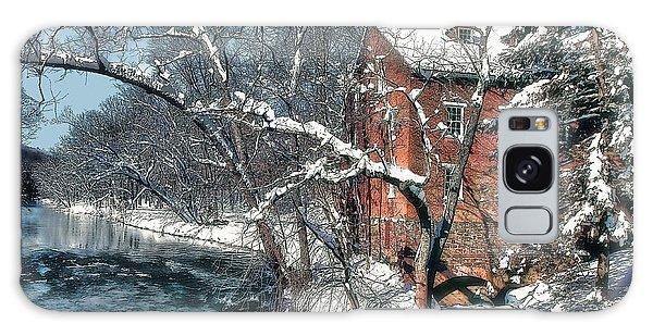 Mill House In Winter Galaxy Case