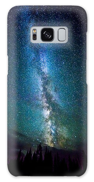 Millky Way Over Lodgepole Pines Galaxy Case
