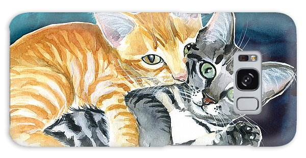 Milo And Tigger - Cute Kitty Painting Galaxy Case