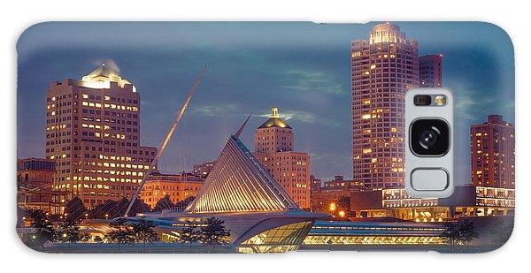 Milwaukee Skyline At Dark Galaxy Case by James  Meyer