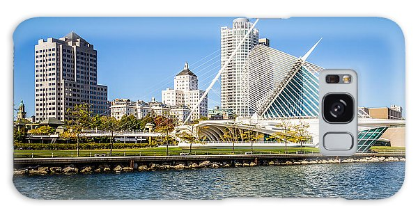 Milwaukee Skyline Photo With Milwaukee Art Museum Galaxy S8 Case