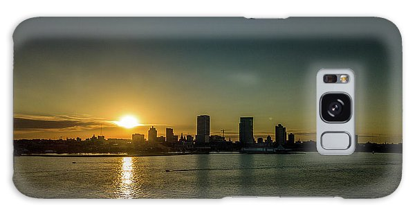 Galaxy Case featuring the photograph Milwaukee Sunset by Randy Scherkenbach