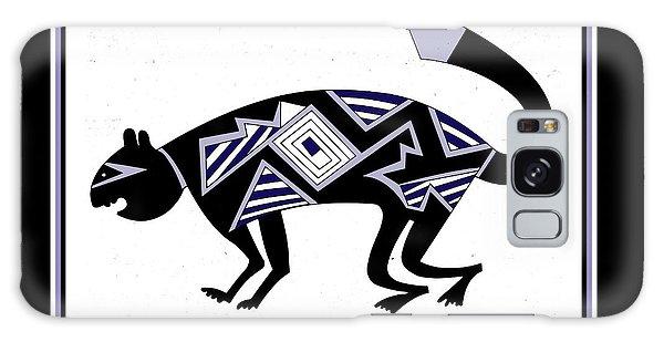 Galaxy Case featuring the digital art Mimbres Mountain Lion by Vagabond Folk Art - Virginia Vivier
