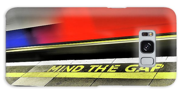 Mind The Gap Galaxy Case by Rona Black