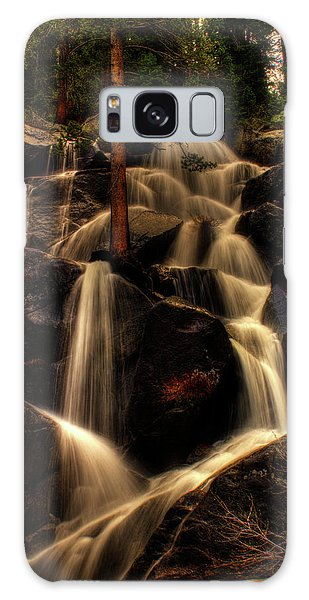 Quaking Aspen Falls Along Tioga Pass  Galaxy Case