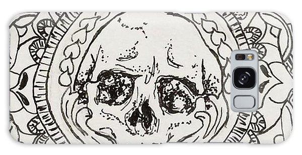 Galaxy Case - Skull Mandala by Faithc Original Artwork