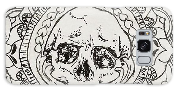 Galaxy Case - Skull Mandala by Faithc Original Artwork