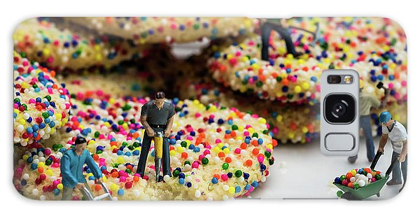 Miniature Construction Workers On Sprinkle Cookies Galaxy Case