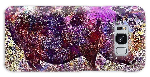 Galaxy Case featuring the digital art Miniature Pig Pregnant Animal Pig  by PixBreak Art
