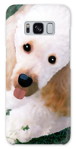 Miniature Poodle Albie Galaxy Case by Marian Cates