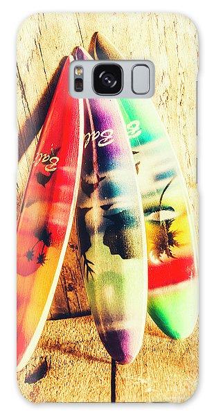 Miniature Surfboard Decorations Galaxy Case