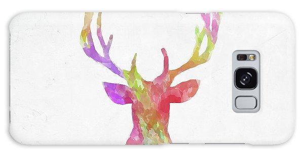 Sportsman Galaxy Case - Minimal Abstract Deer Head Watercolor by Ricky Barnard