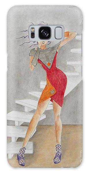 Minimalist Madness -- Whimsical Fashion Drawing Galaxy Case