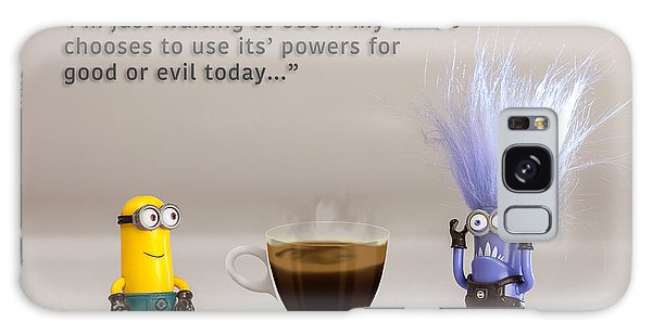 Minion Quote 16 Galaxy Case by Tim Nichols