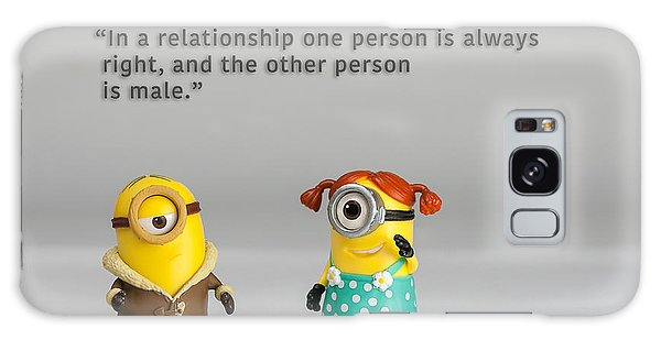 Minion Quote 17 Galaxy Case by Tim Nichols