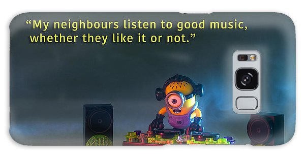 Minion Quote 18 Galaxy Case by Tim Nichols