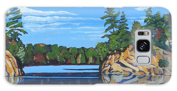 Galaxy Case featuring the painting Mink Lake Gap by David Gilmore