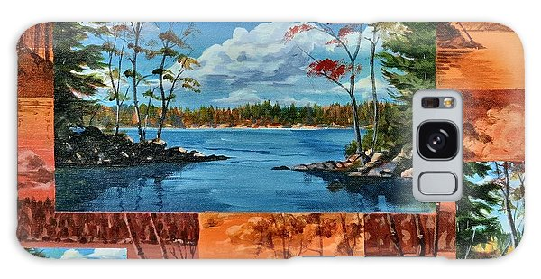 Galaxy Case featuring the painting Mink Lake Looking North West by David Gilmore