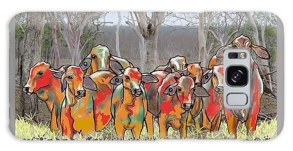 Galaxy Case - Minnamooooo...cows by Joan Stratton