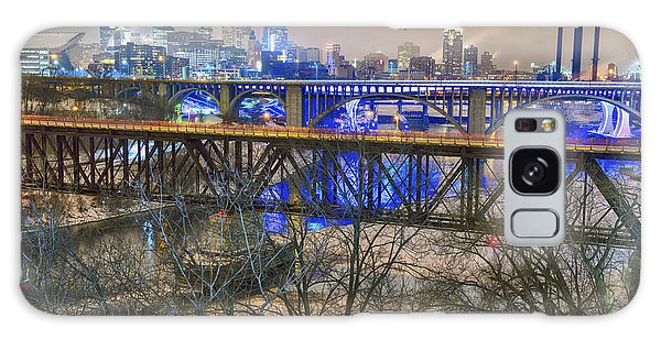Minneapolis Bridges Galaxy Case by Craig Voth
