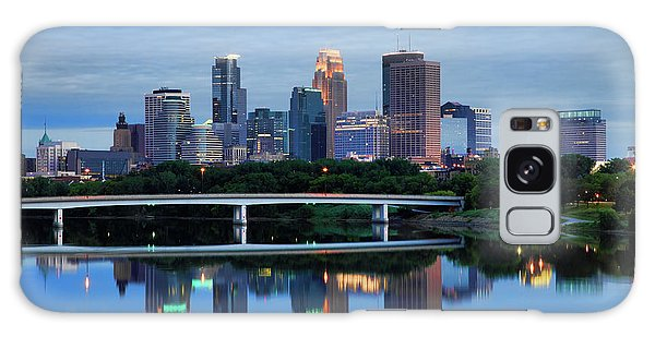 Minneapolis Reflections Galaxy Case by Rick Berk