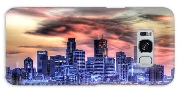 Minneapolis Skyline Autumn Sunset Galaxy Case
