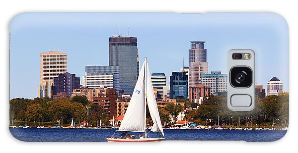 Minneapolis Skyline Lake Calhoun Sailing Galaxy Case