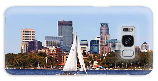 Minneapolis Skyline Lake Calhoun Sailing Galaxy Case