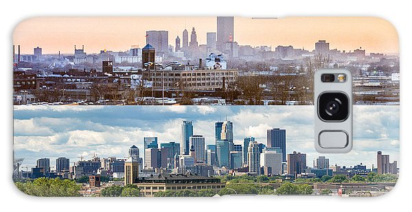 Minneapolis Skylines - Old And New Galaxy Case