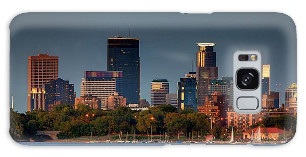 Minneapolis Skyline Photography Lake Calhoun Summer Evening Galaxy Case