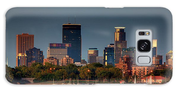 Minneapolis Skyline Photography Lake Calhoun Summer Evening Galaxy Case
