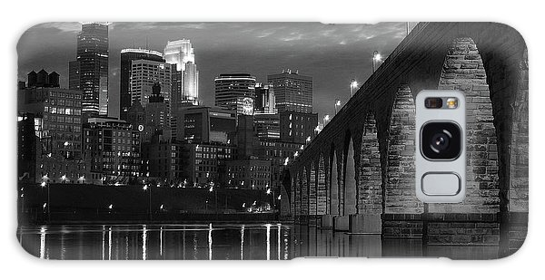 Minneapolis Stone Arch Bridge Bw Galaxy Case