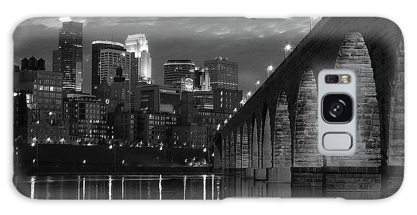 Minneapolis Stone Arch Bridge Bw Galaxy Case