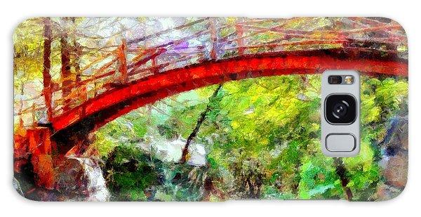 Minnewaska Wooden Bridge Galaxy Case