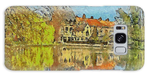 Minnewater Lake In Bruges Belgium Galaxy Case