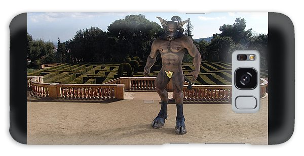 Minotaur Galaxy Case - Minotaur In The Labyrinth Park Barcelona. by Joaquin Abella