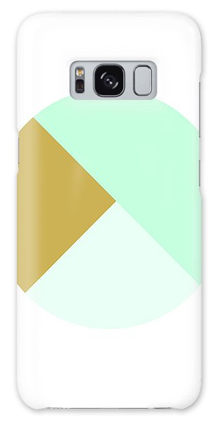 Round Galaxy Case - Mint And Gold Ball- By Linda Woods by Linda Woods
