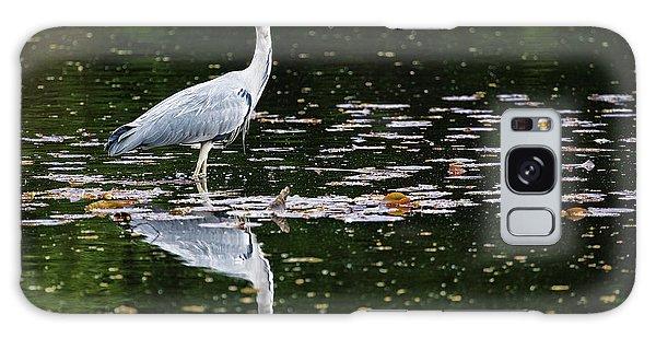 Mirrored Heron Galaxy Case