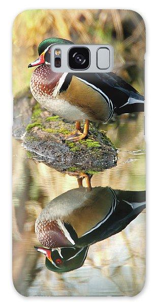 Mirrored Wood Duck Galaxy Case
