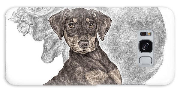 Mischief ... Moi? - Doberman Pinscher Puppy - Color Tinted Galaxy Case