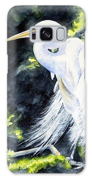 Miss April - Great Egret Galaxy Case