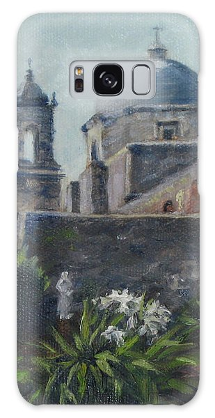 Mission Concepcion In San Antonio Galaxy Case by Connie Schaertl