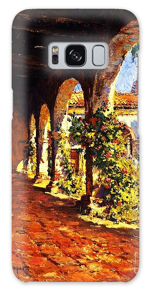 Mission Corridor San Juan Capistrano Galaxy Case by Pg Reproductions